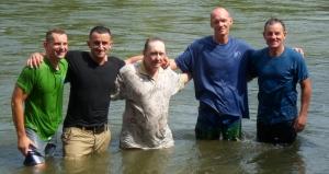 Ivan & Rich Baptize John, Greg & Adrian 0014